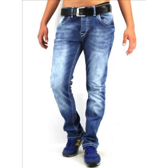 Heren Slim Fit Jeans - Blauw