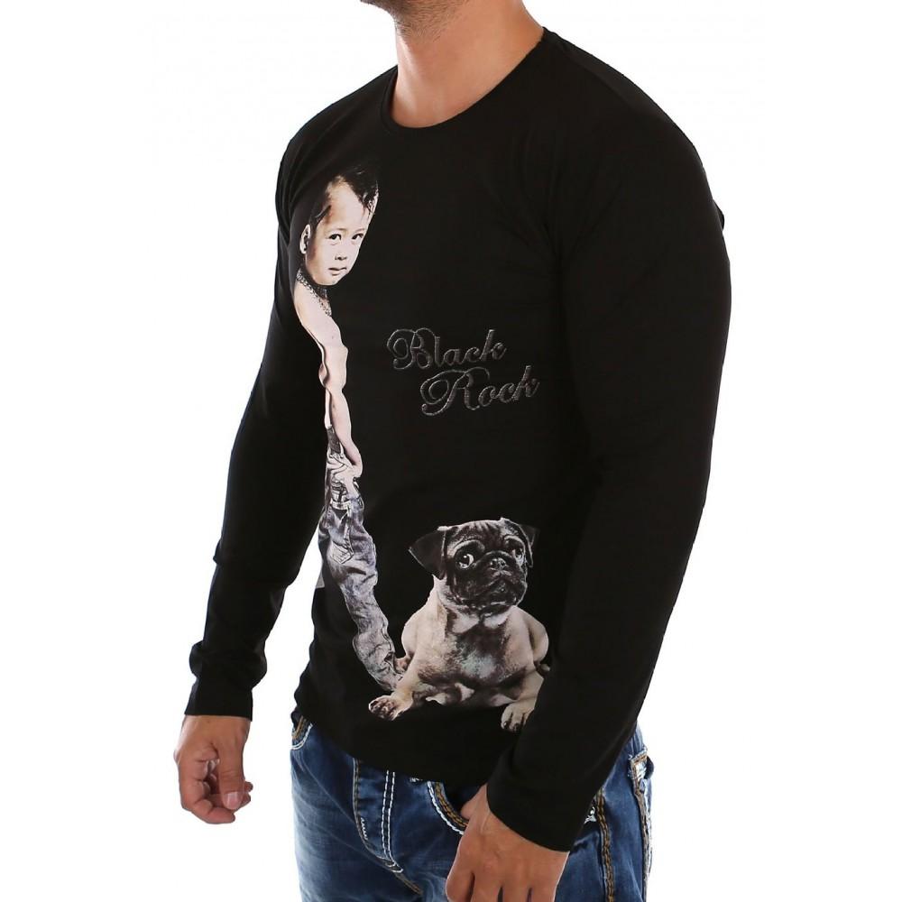 Zwarte Shirts Bedrukken 35