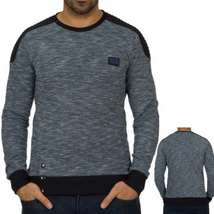 Heren Blauw Sweater