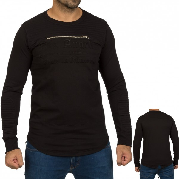 Heren Zwarte Tuniek Sweat Shirt