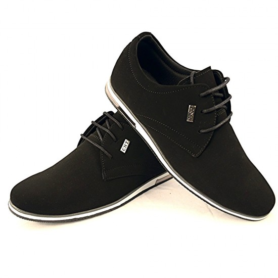 Heren Zwarte Casual Nubuck-Suede Sneaker