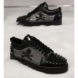 Heren Lage Sneaker met Zilver Details