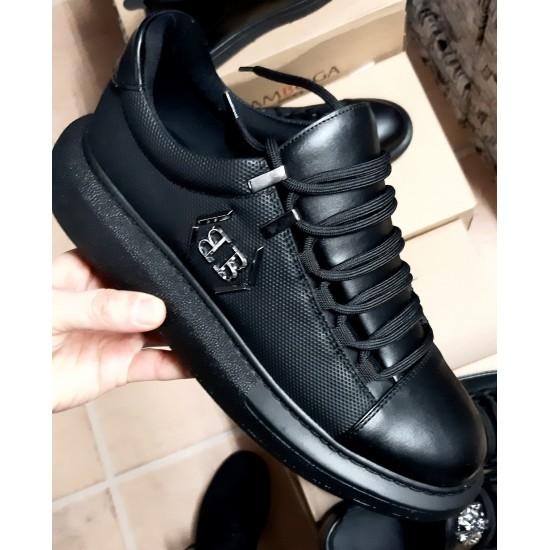 A.Mcqueen Platform Sneakers Zwart