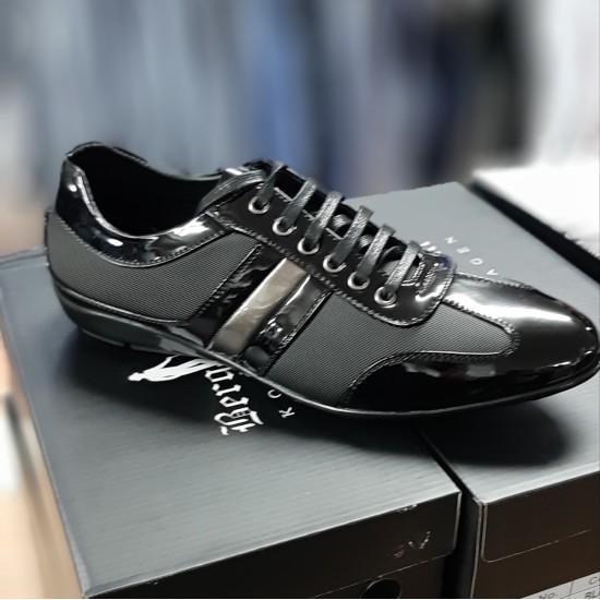 Zwart Lage Heren Sneaker HS002| Fashion Planet