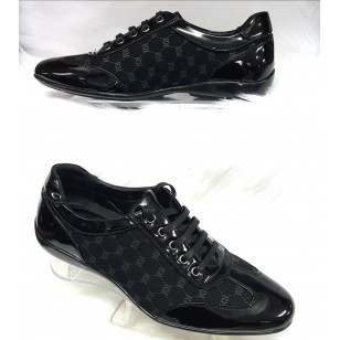 Zwart Trendy heren sneakers