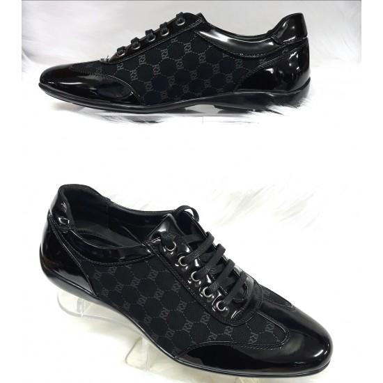 Zwart Trendy heren sneakers