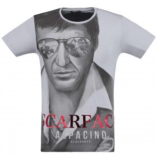 Witte BlackRock Scarface Tony Montana T-Shirt