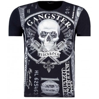 Heren Gangster Zwarte T-Shirt