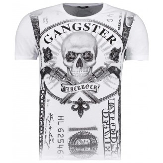 Heren Gangster Witte T-Shirt