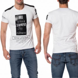 Mannen T-Shirt met Print Dispute Wit
