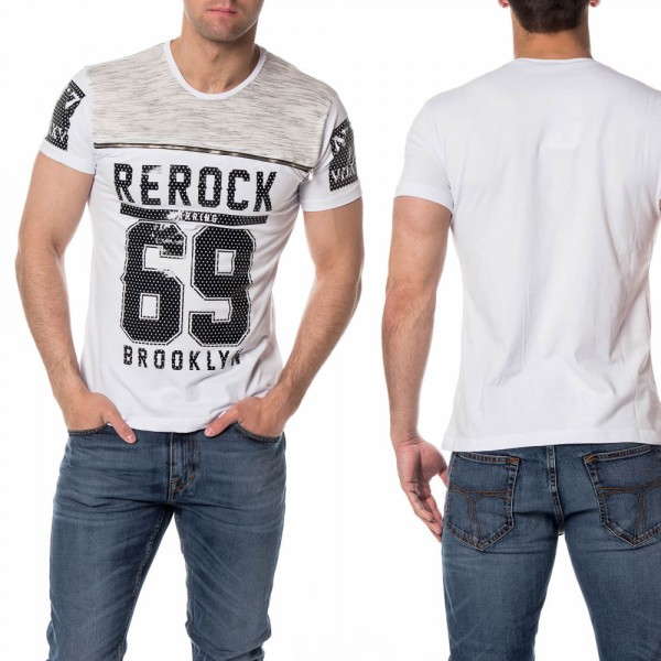Mannen T-shirts Brooklyn Wit