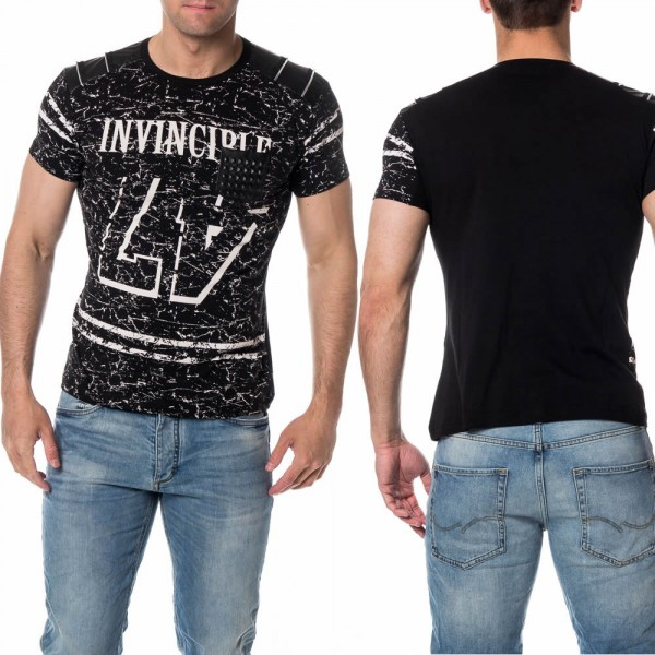 Heren T-Shirt INVINCIBLE Zwart