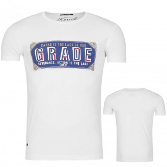Heren Grade Print T-Shirt White