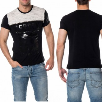 Mannen T-shirts Brooklyn Zwart