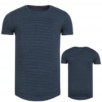 Heren Lange T-Shirt Seeko Navy