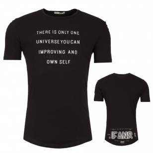Heren Tunika T-shirt Universe Black