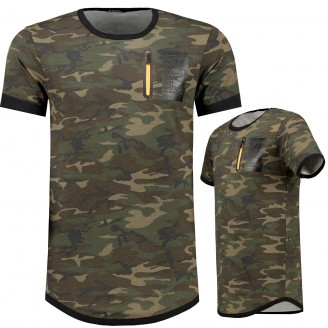 Heren Long T-Shirt KHAKI