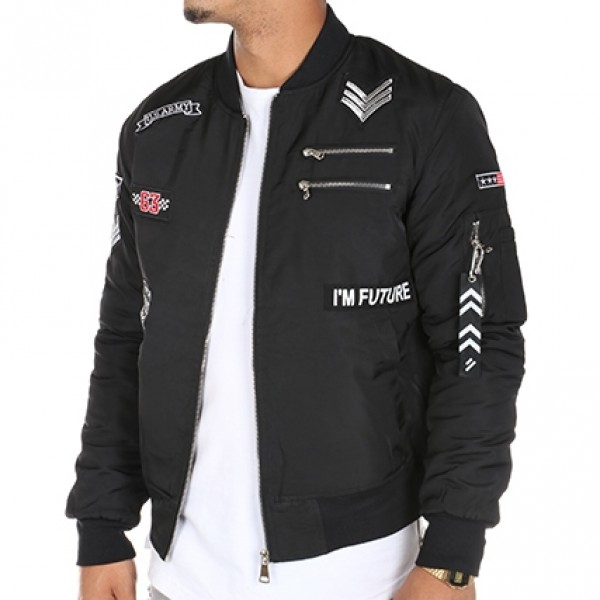 Heren Bombers Jacket Black