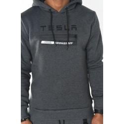 Heren Sweater Tesla Detail Grijs | Modedam