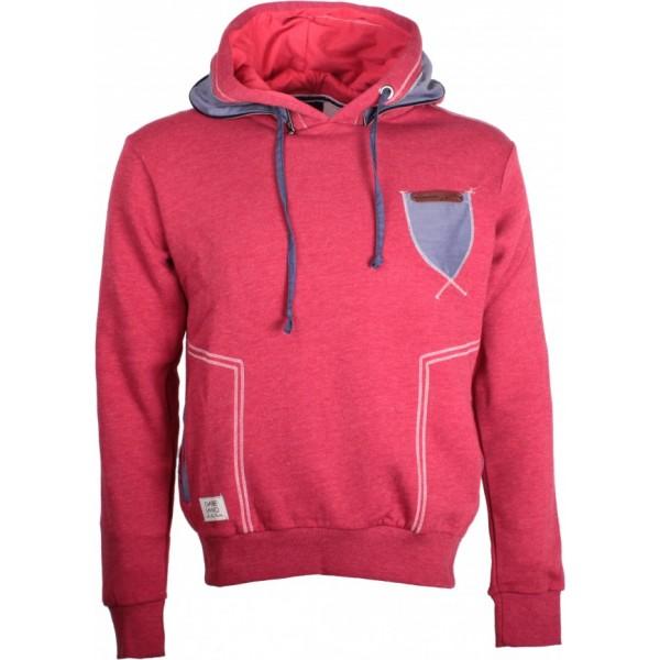 Sweater Melange Hoodie Rood | Modedam