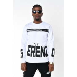 Heren Witte Ronde Hals Sweater