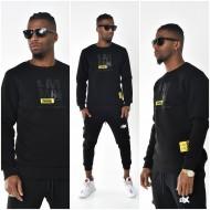 Heren Zwarte Ronde Hals Sweater