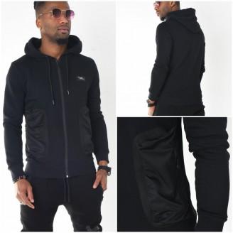 Heren Hooded Vest met Rits Details
