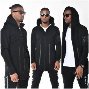 Heren Hooded Vest Zwart