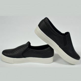 Dames Croc Slip on Sneaker Zwart