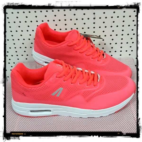 Dames Fushia Air Step Sneakers