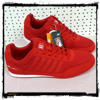 Dames Red-White Comfort Sneakers