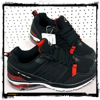 Dames Black Red Power Long Sneakers