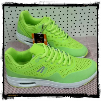 Dames Lemon Green Air Step Sneakers