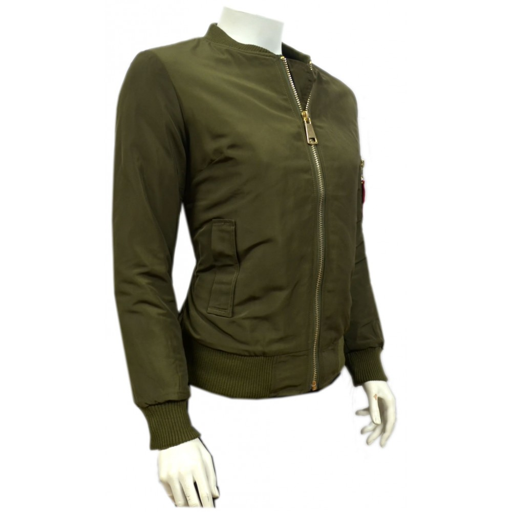 Schijvens Mode Jassen : Dames donker groene gewatteerde jas dzj modedam