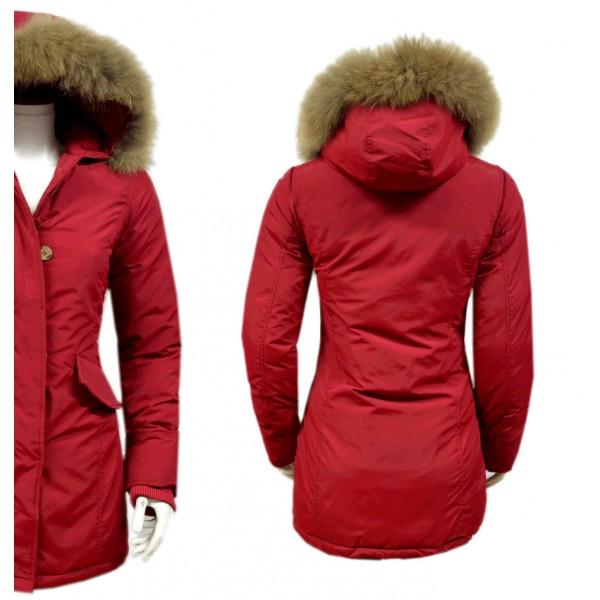 Rode Heren Winterjas.Dames Rode Parka Jas Met Bont Dj026 Modedam Nl