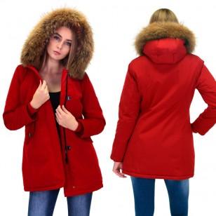 Rode Winterjas.Zoeken Tag Rode Parka Jas Met Bontkraag