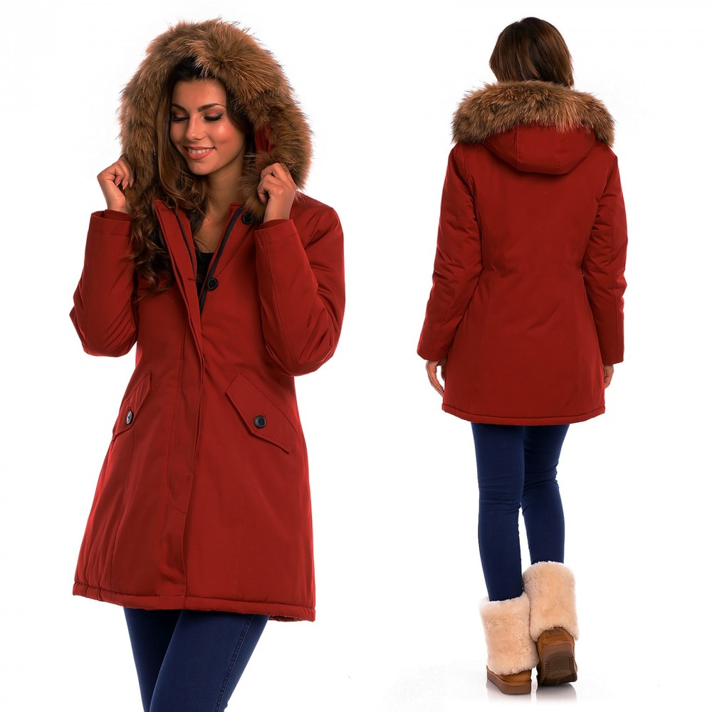 rode attentif dames winter jas